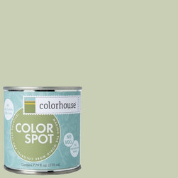 ColorSpot Eggshell Interior Paint Sample, Glass .02,  8-oz - Test color before you paint with the Colorhouse Colorspot 8-oz  paint sample. Made with real paint and in our most popular eggshell finish, Colorhouse paints are 100% acrylic with NO VOCs (volatile organic compounds), NO toxic fumes/HAPs-free, NO reproductive toxins, and NO chemical solvents. Our artist-crafted colors are designed to be easy backdrops for living.