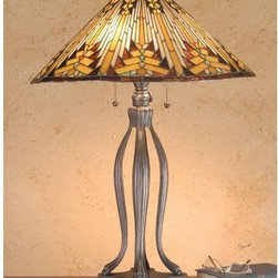 Meyda Tiffany - Meyda Tiffany 66226 Stained Glass / Tiffany Table Lamp Mission Collecti - Arts & Crafts MissionTable Lamp3 Medium base bulbs, 60w (max)