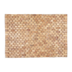 "None - Wright Exotic Wood Mat Natural (18""x30"") - Crafted of exotic wood, this handsome mat will add an elegant touch to any home. This is from Entryways' Exotic Woods Collection and meets the industry's highest standards. This design combines natural beauty and durability with surprising affordability."