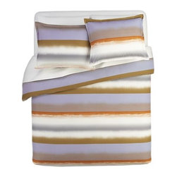 Marimekko Poukama Sandstone Bed Linens - Here's a color combination you don't see often. It's reminiscent of gradient stone or a desert sky.