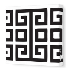 """Avalisa - Pattern - Big Square Stretched Wall Art, 28"""" x 28"""", Black - Bold color against white and a great big graphic — so simple, yet so powerful. You'll make a style statement wherever you hang this piece."""