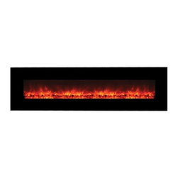 "Yosemite Home Decor - Hera- No Heat - Yosemite Home Decor - Hera No Heater will look absolutely perfect in a contemporary home or interior.  It has a wide glass surface that comes in a smooth black finish.  Because of its no heater components, it gives an option to hang and/or recess the unit on any wall to suit the interior of the room.  The flames produced come in a patented pattern that seeks to imitate the look of real flames. To top everything off operation is a breeze with the remote control that is included in the package. Yosemite Home Decor Hera provides value ""both in aesthetics and functionality""  to a room."