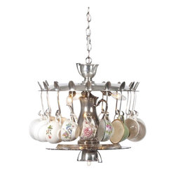 EuroLux Home - Custom Made Tea Service Chandelier Artisan - Product Details
