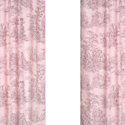 "Sweet Jojo Designs - Pink Brown Toile Window Panels (Set of 2) - Create a stylish look for your child's room with the Pink Brown Toile Window Panels (Set of 2).  This set features 2 Window Panels that are 42"" x 84"" each."