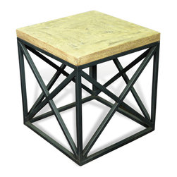 Kathy Kuo Home - Longmire Modern Rustic Solid Wood Parquet Side End Table - Geometry has never looked so stylish as when applied to this classic modern side table.  Whether placed in an Arts and Crafts, Rustic, Mid Century Modern or Italianate room - the language of symmetry becomes poetry.