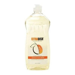 Citrasolv Citradish Natural Dish Soap - Mango Tangerine - Case Of 12 - 25 Fl Oz - With Real Essential Oils