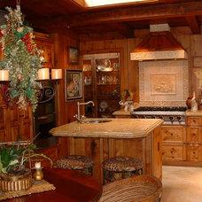 Mediterranean Kitchen by Stewart Thomas LLC