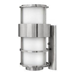 Hinkley - Hinkley Saturn One Light Stainless Steel Outdoor Wall Light - 1905SS-GU24 - This One Light Outdoor Wall Light is part of the Saturn Collection and has a Stainless Steel Finish. It is Outdoor Capable, and Wet Rated.