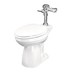 """GERBER PLUMBING - Gerber Top Spud Toilet 14"""" High - Features:"""