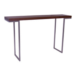 Moe's Home Collection - Moe's Home Repetir Console Table in Walnut - Contemporary simple design console table with inset legs.