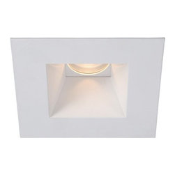 WAC Lighting - WAC Lighting   Telsa 3.5 in. High Output LED Square Open Reflector Trim - Minimum profile, square downlight trim with interior open reflector, for use with HR-3LED Tesla series housings from WAC Lighting. Features: