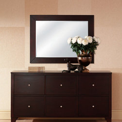 Lifestyle Solutions - Lifestyle Solutions 500 Dresser w/ Mirror in Cappuccino - Part of the 500 Casegood series  finely crafted from tropical hardwood solids and veneers. Exquisitely finished in a dark Cappuccino finish  achieved through an eight-step finishing process that includes a durable protective lacquer that ensures impeccable texture and color
