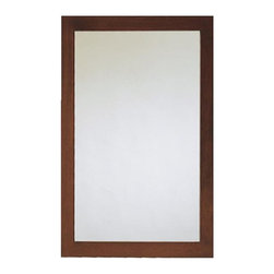 American Standard - American Standard 9273.101.335 Brook Rectangular Mirror, Espresso - This American Standard 9273.101.335 Brook Rectangular Mirror is part of the Brook collection, and comes in a beautiful Cognac finish. This rectangular mirror features a poplar wood and birch veneer construction, and includes it's own wall-hanging hardware.