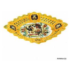 Artistica - Hand Made in Italy - Deruta Vario: Inlaid Luxury Deruta Centerpiece - Deruta Vario