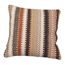 Best Selling Home Decor - Abbott Beige Stripe Wood Pillow - The woven wool stripe pattern of the Abbott delivers a classic pillow in a unique design. Perfect for spicing up any couch, bed, or even club chair. Set includes: One pillow; Color: Beige Multi; Edging: Knife edge; Dimensions: 4 inches high x 20 inches wide x 23 inches long; Cover materials: Linen Blend; Fill materials: 100-percent Polyester; Care instructions: Care instructions: Spot clean with a damp cloth; The digital images we display have the most accurate color possible. However, due to differences in computer monitors, we cannot be responsible for variations in color between the actual product and your screen.
