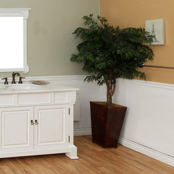 Bellaterrra - Bellaterra 205042 42 In Single Sink Vanity-Wood-White - 42x22.5x35.5 in. - Bellaterra 205042 42 In Single Sink Vanity-Wood-White - 42x22.5x35.5 in.