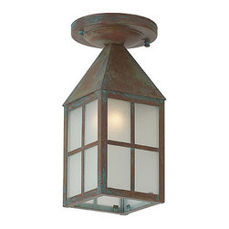 Carriage Exterior Flush Ceiling Mount Light - The Carriage Lantern is liked for its simplicity of style, straightforward design, and versatility of use. Our customers have installed the Carriage Lantern in a wide variety of American vernacular home styles, including New England saltbox, Midwest farmhouse, and Shaker-inspired dwellings.