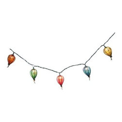 Threshold String Lights, Iridescent Bulb - This fun, colorful set reminds me of hot air balloons. I like the whimsical shapes.