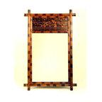 Wayborn - Handpainted Bamboo Mirror - Handpainted Bamboo Mirror