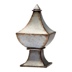 "Cyan Design - Cyan Design Phoenix Garden Finial X-43940 - From the Phoenix Collection, this Cyan Design garden finial is a classic design with tapering and curvature that is versatile in any space. The finial curves up dramatically into a simple, pyramid-shaped point. Rustic Iron finishing and a generous 19"" size complete the appeal."