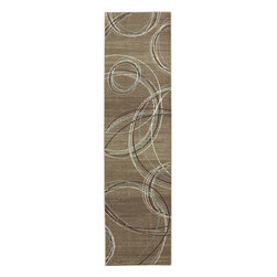 "American Rug Craftsmen - Contemporary Madison Hallway Runner 2'1""x7'10"" Runner Taupe-Cream Area Rug - The Madison area rug Collection offers an affordable assortment of Contemporary stylings. Madison features a blend of natural Taupe-Cream color. Machine Made of Heat Set Polypropylene the Madison Collection is an intriguing compliment to any decor."