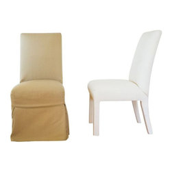 Quatrine Slipcovered Parsons Dining Chairs - $4,800 Est. Retail - $900 on Chairi -