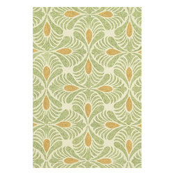 Loloi Rugs - Loloi Rugs Tropez Ivory-Green Contemporary Indoor / Outdoor Rug X-9332RGVI30-ZTP - Set the foundation for an island lifestyle with our Tropez Collection. Hand hooked in China of 100% polypropylene, Tropez features tropical inspired design with trending-now colors suited for outdoor living. Take a closer look (or zoom in), and you'll notice the use of mixed yarns that give Tropez a refined color blend. And like all of our indoor/outdoor rugs,Tropez is easy to clean and will withstand any rain or sunshine.