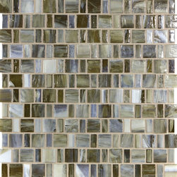 "Glass Tile Oasis - Sepia Shimmer 1"" x 1"" Brown Pool Glossy Glass - Sheet size:  1.12 Sq. Ft.    Tile Size:  1/2"" x 1"" & 1"" x 1""   Tiles per sheet:  192    Tile thickness:  1/4""   Grout Joints:  1/8""   Recycled Components:  0%   Sheet Mount: Paper Face    MADE TO ORDER-LEAD TIME 2 WEEKS     Sold by the sheet    - Brilliant transparent glass combed through with coordinating opaque colors  and featuring a contemporary smooth-edge. Each piece is hand-poured and unique  designed with a certain amount of variation and variegation of color  tone  texture and shade for a distinctive appearance. Our handmade process incorporates creases  wrinkles  waves  bubbles and other surface effects indicative of handmade glass  all designed to capture light and enhance the final beauty of the project."