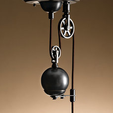 Industrial Pulley Single Pendant