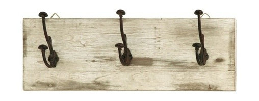 BZBZ68789 - Cute and Impressive Wall Hooks with Rustic Nail Knobs - Cute and Impressive Wall Hooks with Rustic Nail Knobs. These Wall hooks feature 3 double ended nail like hooks to create the perfect place to hang your coat, hat, umbrella and more, while constantly reminding you to stop and enjoy the simpler things.