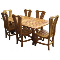 Traditional Outdoor Dining Tables by ArtsyHome.com