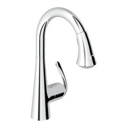 Grohe - Grohe 32 298 00E Ladylux Caf? WaterCare Main Sink Dual Spray Pull-Down Kitchen F - Ladylux Café WaterCare Main Sink Dual Spray Pull-Down Kitchen Faucet belongs to Ladylux Café  Collection by Grohe This Atrio Collection was conceived along traditional Bauhaus lines and will create a balance and harmony in your bathroom. It combines geometric shapes and smooth styling for a simplistic yet stunning look.  Faucet (1)