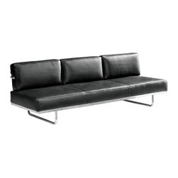 Fine Mod Imports - Flat Le Corbusier Black Sofa Bed - Features: