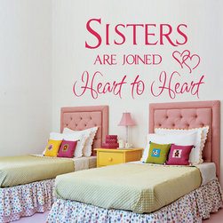 ColorfulHall Co., LTD - Wall Decals Sisters Are Join Heart To Heart - Wall Decals Sisters Are Join Heart To Heart