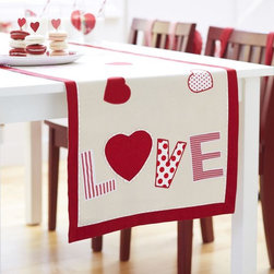 Valentine's Day Table Runner - You can always count on Pottery Barn Kids for fun holiday decor like this table runner.