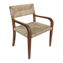 NOIR - NOIR Furniture - Bowie Arm Chair in Teak - GCHA213T - Features:
