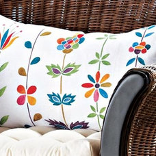 Tropical Decorative Pillows Garden Whimsey Pillow