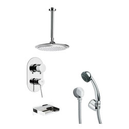 Remer - Sleek Chrome Tub and Shower Faucet with Hand Shower - Multi function tub and shower faucet.