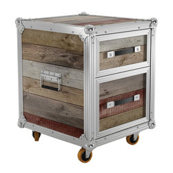 Nashville Two-Drawer Chest - For hard-working storage with rugged good looks, try out this two-drawer chest. Made from a handsome combination of aluminum edging and raw reclaimed teak, it's a perfect addition to bedrooms or the office.