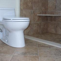 "Manchester Bath Remodel - 3/4"" Threshold, No Curb."