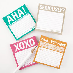 Knock Knock Sticky Notes - Though not necessarily retro, these are still a great splash of color for your desk. The standard sticky notes we see everywhere are fine, but aren't these more fun? I think I might be more apt to heed the reminder when it's written on one of these.