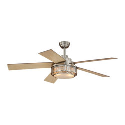 """Vaxcel - 52"""" Ceiling Fan - Vaxcel Lighting AireRyder F0002 Chesapeake 52-in Ceiling Fan This product from Vaxcel Lighting has a satin nickel finish. For use with two 60-watt frosted"""