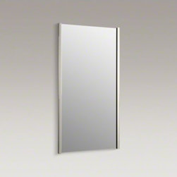 """KOHLER - KOHLER Loure(R) 18"""" Mirror - Loure offers thoughtful and versatile accessories that coordinate with a wide range of contemporary faucets and interiors. This mirror features vertical frame bars down the sides for a simple, universal design that enhances your bathroom decor."""