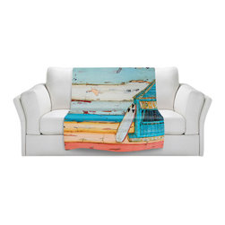 DiaNoche Designs - Fleece Throw Blanket by Danny Phillips - Sun.Fun.Young - Original Artwork printed to an ultra soft fleece Blanket for a unique look and feel of your living room couch or bedroom space.  DiaNoche Designs uses images from artists all over the world to create Illuminated art, Canvas Art, Sheets, Pillows, Duvets, Blankets and many other items that you can print to.  Every purchase supports an artist!