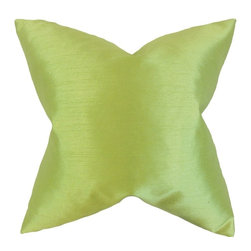 "The Pillow Collection - Klee Solid Pillow, Apple Green 20"" x 20"" - Achieve a classy and sophisticated look with this versatile accent pillow."