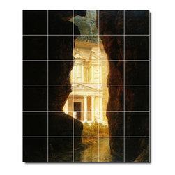 Picture-Tiles, LLC - El Khasne Petra Tile Mural By Frederic Church - * MURAL SIZE: 48x40 inch tile mural using (30) 8x8 ceramic tiles-satin finish.