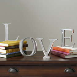 KINDWER - Solid Aluminum 6-inch Decorating Letter - These solid aluminum letters are a great way to personalize your space. Highly polished,each capital letter of the alphabet is available plus the '&' symbol. Spell out a special name or message with these large 6-inch letters.