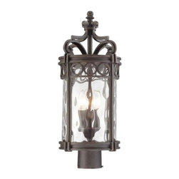 Minka-Lavery - Minka-Lavery Regal Bay 3-Light Outdoor Post Mount - 9226-256 - This 3-Light Post Light has a Black Finish and is part of the Regal Bay Collection.