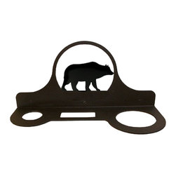 Village Wrought Iron - Village Wrought Iron HD-14 Bear Hair Dryer Rack - Decorative, functional and long lasting handcrafted products for your home carefully made using the finest materials and time-tested methods of craftsmanship. Quality and durable coated products have a baked on powder coating to ensure that you may enjoy each piece for many years. Toilet Tissue Holder Measurements Are Approximate. Proudly crafted in the USA. Material is Handcrafted Iron. Finish is a Flat Black Powder Coated Iron for that long lasting appeal. Dimensions are approximately: 11 In. W x 5 In. H x 4 In. D. Openings are 1 1/2 In Round 2 1/2 In. x 1 In. Rectangle 2 3/4 In. Round. Silhouette Sizes Vary Slightly. Proudly crafted in the USA