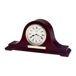 BULOVA - Bulova Annette II Tambour Mantel Clock Model B1929 - Formed wood case, mahogany finish.